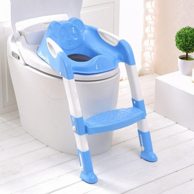 Adjustable Toilet Training Seat with Ladder-American Aura