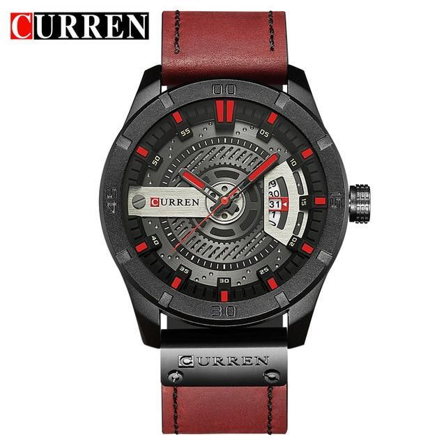 Leather Strap Military Sports Watch-American Aura