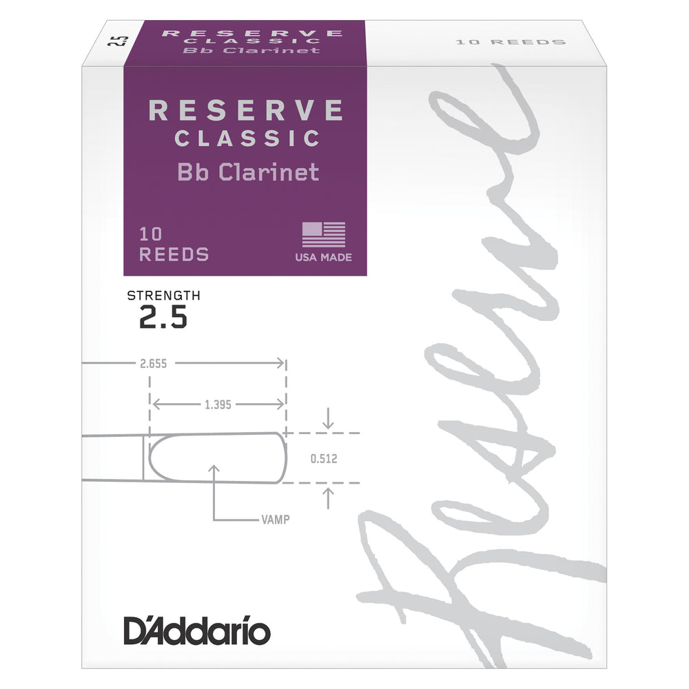 Daddario Reserve Classic Bb Clarinet Reeds - Octave Music Store - 1