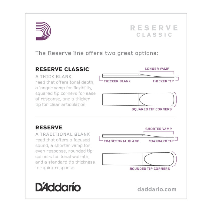 Daddario Reserve Classic Bb Clarinet Reeds - Octave Music Store - 4