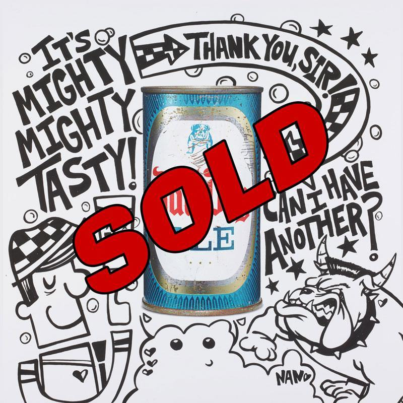 Bull Dog Ale Can | Fine Art and Limited Edition Prints | The Art Of Nan Coffey