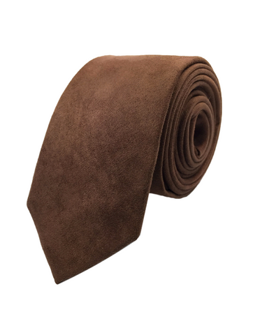 Beaver Fur Dark Brown Skinnytie