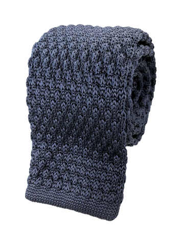 Knotted Navy Knit