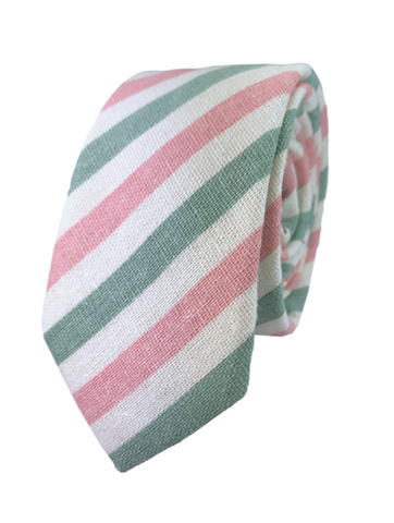 Pink and Grassy Green Candy Stripe
