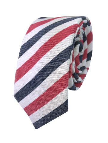 Red and Navy Candy Stripe