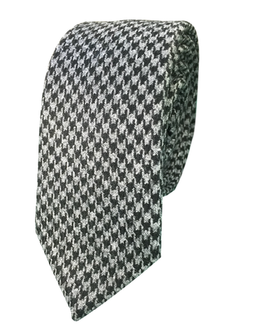Charcoal Houndstooth