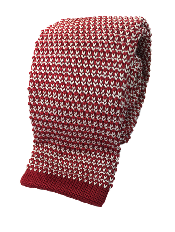 Red and White Interwoven Knit