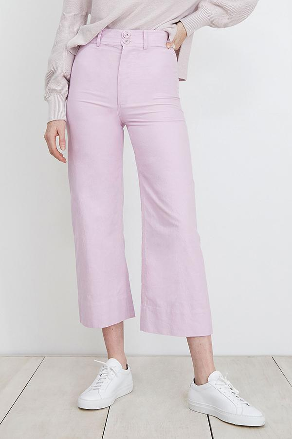 Apiece Apart Wide Leg Merida Pant in Lavender