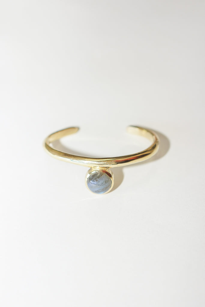 Seawothy Sonia Cuff with Labradorite in Brass