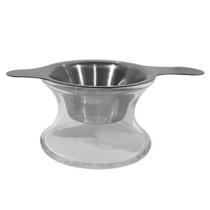 Strainer with glass holder - The Tea Merchant