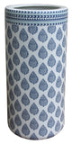 Blue, White And Turquoise Ceramic Umbrella Stand, Stick Stand or Vase