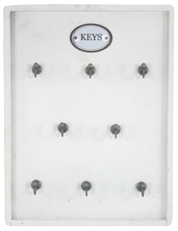 Distressed Painted White Wooden Key Board