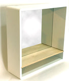 Wall Mounted Shelf Unit with Mirrored Backing