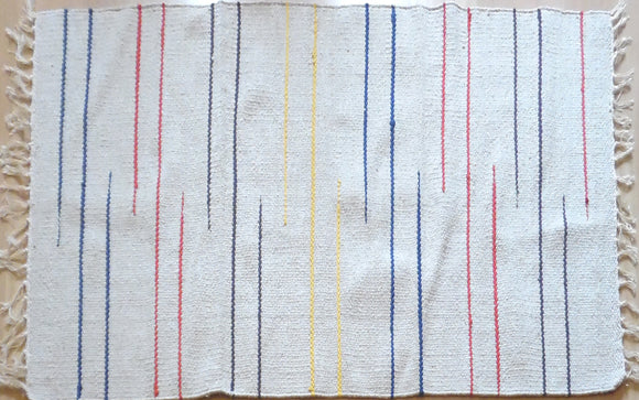 Multi and Ecru Stripe Design Rug