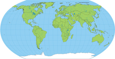 "8"" x 16"" Unlabeled World Practice Map, 30 Sheets in a Pack for Social Studies, Geography, Map Activities, Drill and Practice, Current Event Activities, Learning Games and More"