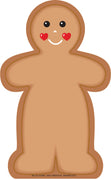 Large Notepad - Gingerbread Man