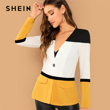 Load image into Gallery viewer, SHEIN Multicolor Office Lady Colorblock