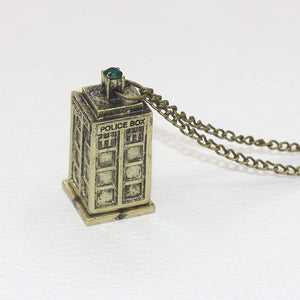 Doctor Who Police Public Call Box Pendant Necklace Silver Or Golden