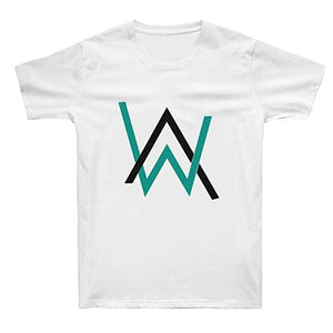 Alan Walker T-Shirts Cotton Short Sleeve Black