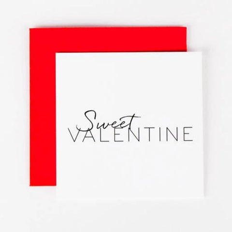 Wrinkle & Crease Paper Products - Sweet Valentine Mini Notecard