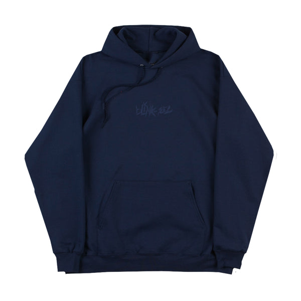 Logo Embroidered Navy Pullover Hoodie