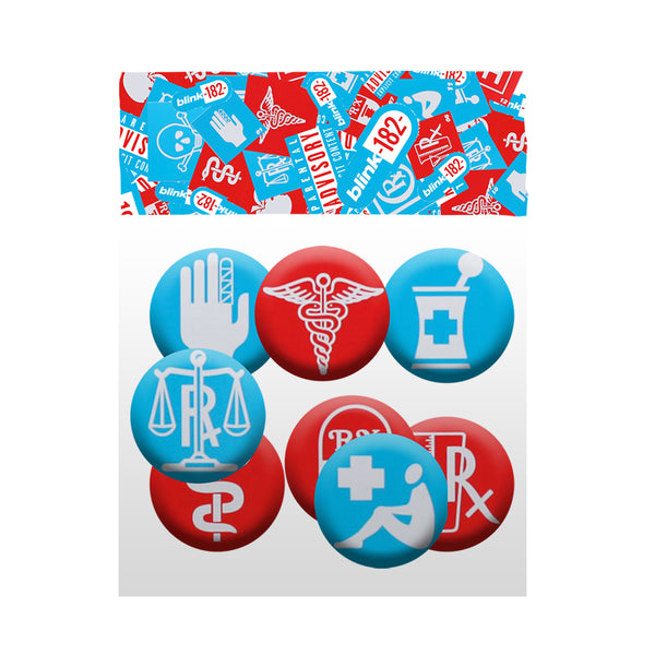 Enema Collage Button Pack (8 pcs)