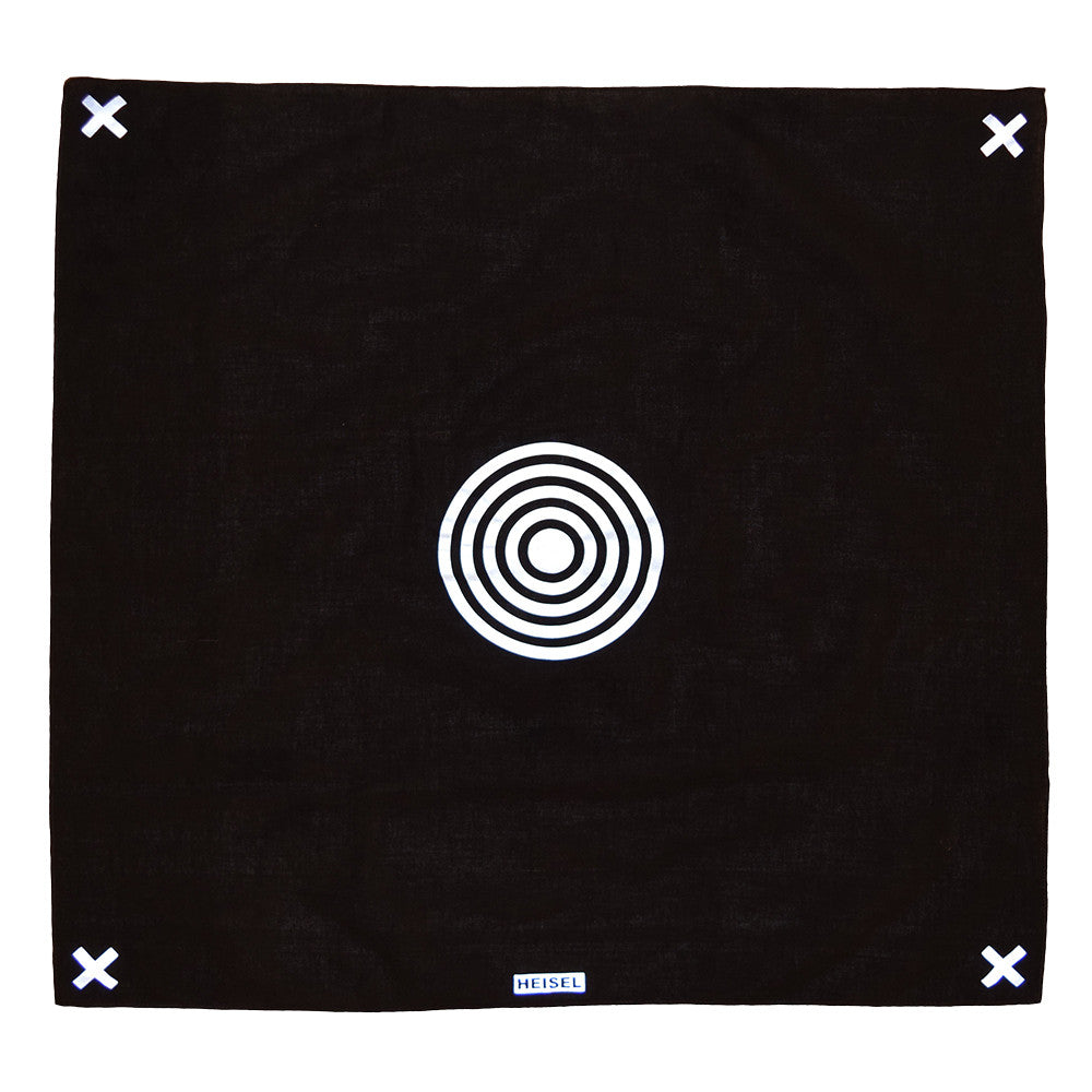 concentric reflective bandana by HEISEL
