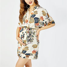Load image into Gallery viewer, Sexy Fashion Short Sleeves Floral Print Mini Dress