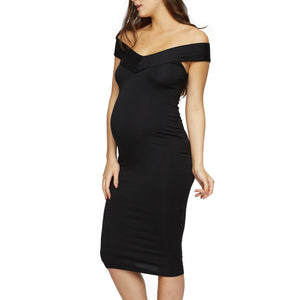 Maternity Off Shoulder Dress