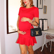 Load image into Gallery viewer, Maternity Solid Color Skater Dress