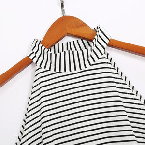 Maternity Stripes Sleeveless Dress