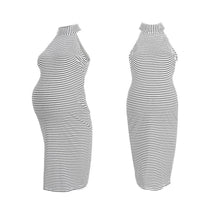 Load image into Gallery viewer, Maternity Stripes Sleeveless Dress