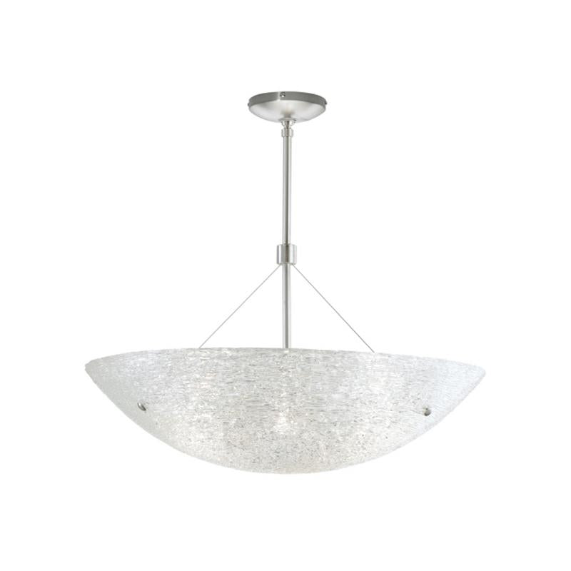 trace suspension ceiling light in satin nickel with italian piped glass from tech lighting
