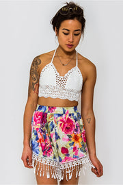 Limited Edition Floral Tassel Shorts