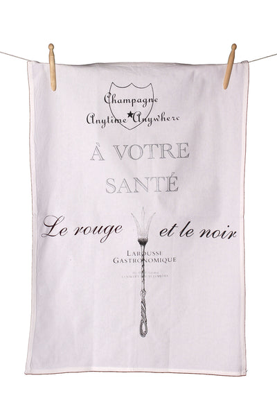 Wine Lovers Cotton Tea Towel