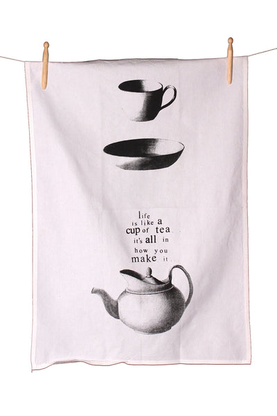 Cup of Tea Cotton Tea Towel