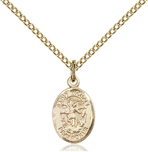 Image of St. Michael the Archangel Pendant (Gold Filled)
