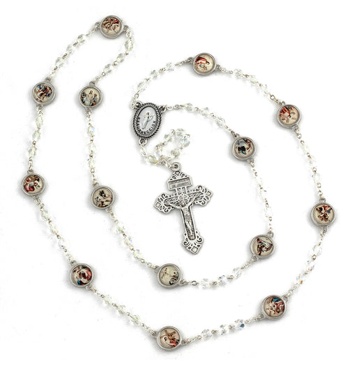 Crystal Stations Of The Cross Rosary