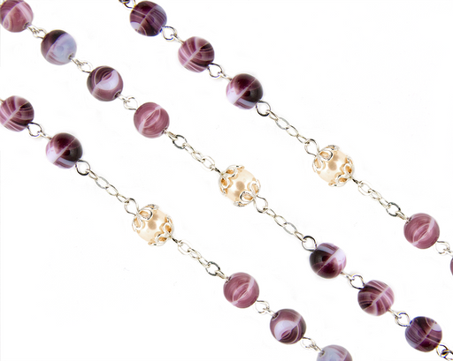 Amethyst and Pearl Bead Rosary