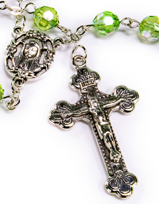 August - Peridot Birthstone Rosary