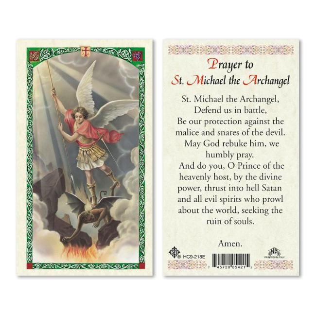 St. Michael Battle Prayer Card