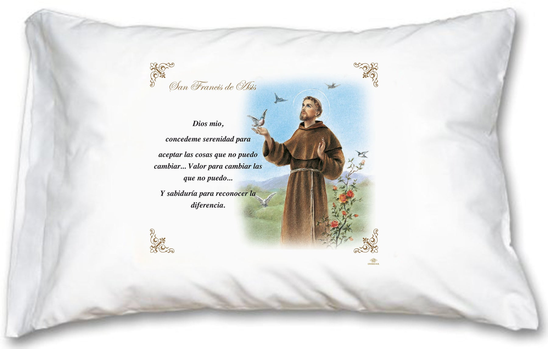 St. Francis Pillow Case - Spanish Prayer