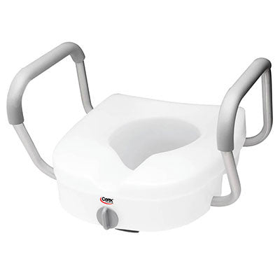 E-Z Lock™ Raised Toilet Seat with Armrests