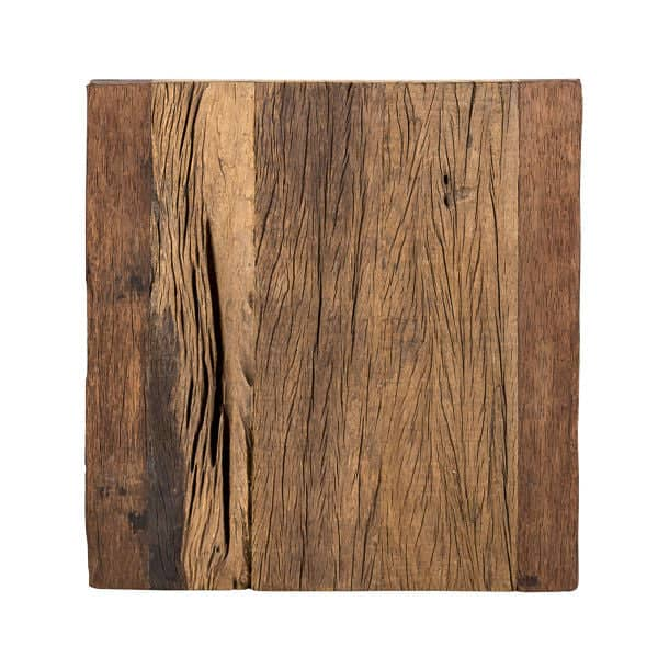 Luxe Kensington Reclaimed Wood Square Side Table Top