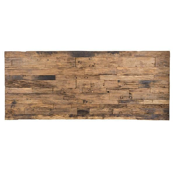 Luxe Kensington Industrial Reclaimed Wood Dining Table Top