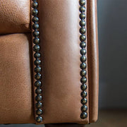 Charlie Leather Chesterfield Sofa Close up
