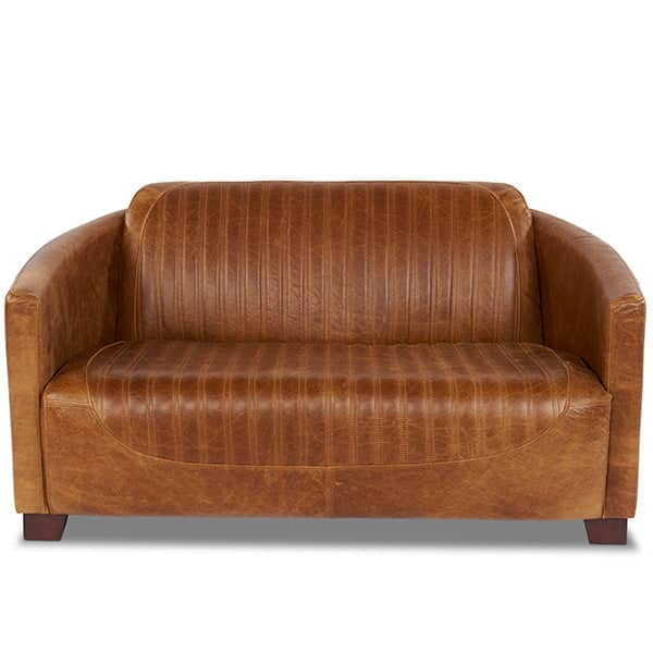 Spitfire Leather Sofa Front