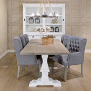 Lifestyle Hoxton Oak Reclaimed Wood White Farmhouse Table