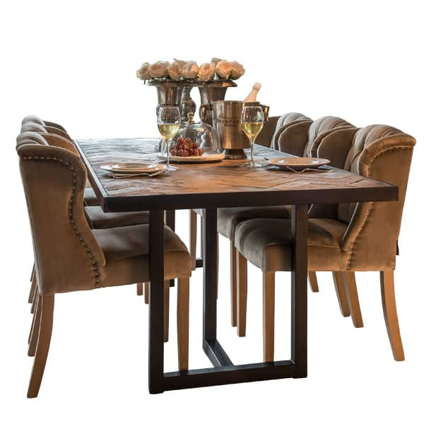 Kingsbridge Industrial Reclaimed Oak Dining Table Cutout