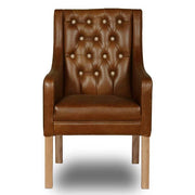 Morton Leather Dining Chair front